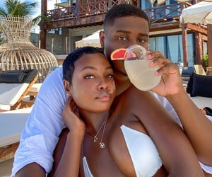 couple, melanin, and love image