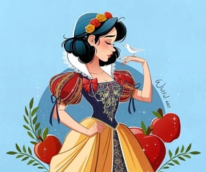 blanche neige, disney, and princess image