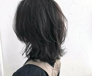 hair, style, and korean image
