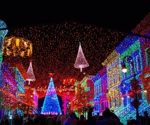 christmas, night, and Walt Disney World image