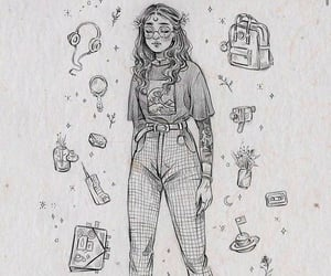 90s, draw, and pencil image