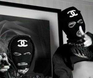 black, masks, and white image