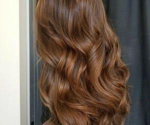 hair, girl, and brown image
