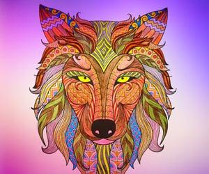 animal art, art journal, and colouring image