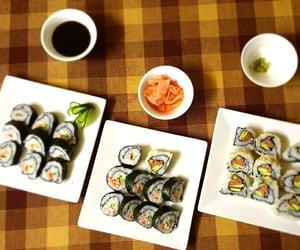 food, rolls, and sesame image