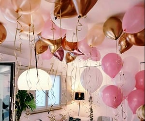 balloons, birthday girl, and lunch image