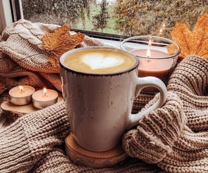 coffee and rain image