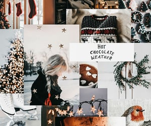 aesthetic, christmas, and Collage image