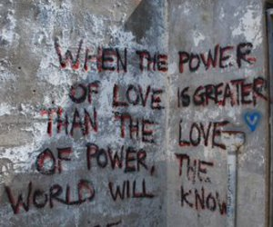 love, peace, and quotes image