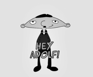 hey arnold, hitler, and arnold image