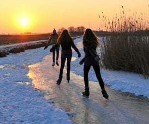 snow, friends, and fun image