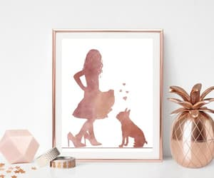 boston terrier, girl and dog, and gift for mom image