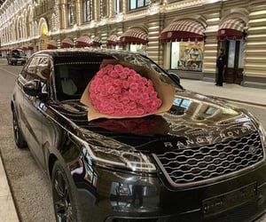 luxury, rose, and car image