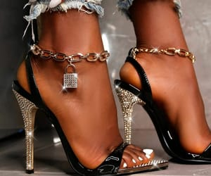 bling, fashion, and heels image