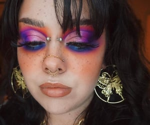 eyeshadow, makeup, and pink makeup image
