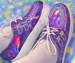 creepers, holographic, and cool shoes image