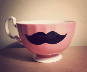 pink, cup, and moustache image