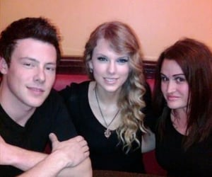 Taylor Swift and cory monteith image