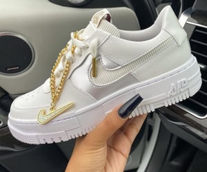 sneakers, fashion, and gold image