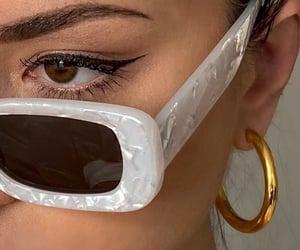 glasses, makeup, and sunglasses image