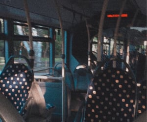 bus, busy, and blue image