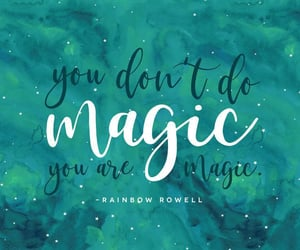 carry on, magic, and rainbow rowell image
