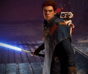 jedi, star wars, and video game image