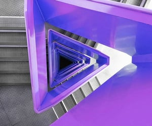 staircase, purple, and stairway image