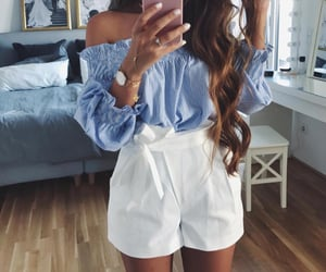 blouse, casual, and summer image