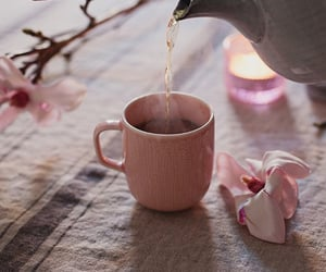 tea, flowers, and pink image