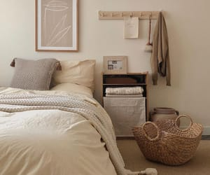 apartment, bedroom, and bedroom decor image