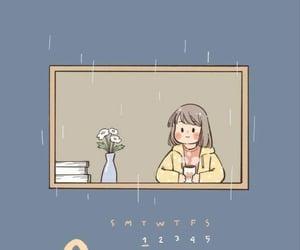 calendar, cartoon, and girl image