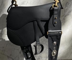 Christian Dior, bag, and black image
