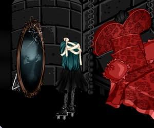 art, dark, and mirror image