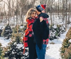 couple, christmas, and winter image