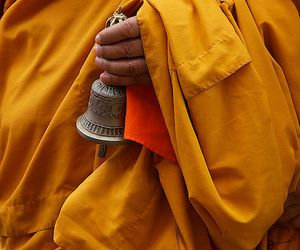 asia, yellow clothes, and bell image
