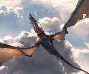 fantasy art, rpg, and dragon image