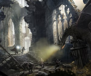 adventure, battle, and cathedral image