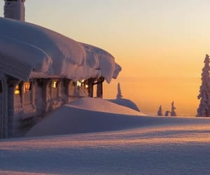 winter, cabin, and snow image