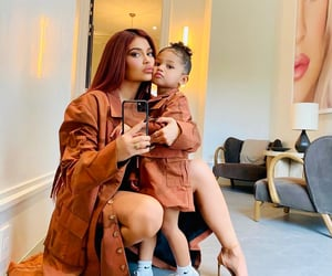 kylie jenner, stormi webster, and family image