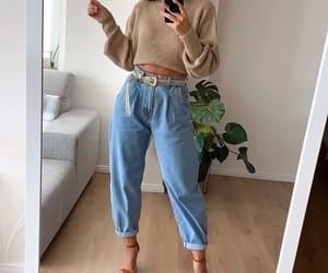 slouchy jeans image