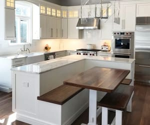 home, kitchen, and kitchen island image