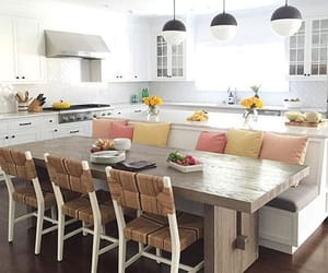 kitchen, kitchen bench, and home image