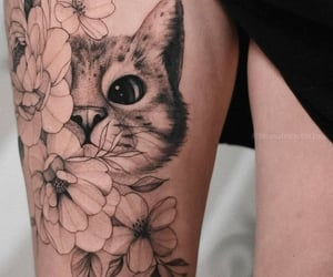 beaut, flower, and kittycat image