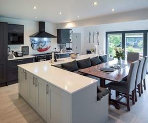 home, kitchen island, and kitchen image