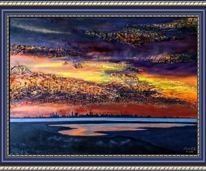 art for sale, Oil Painting, and puesta del sol image