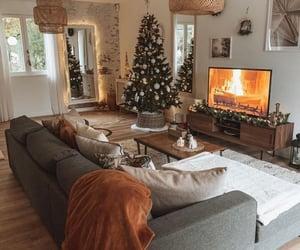 christmas tree, design, and living room image