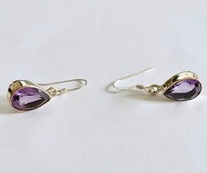 vintagestyle, amethyst earrings, and 21vintagestreet image