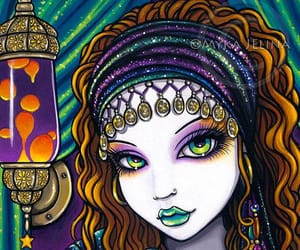 art, hippie style, and face image