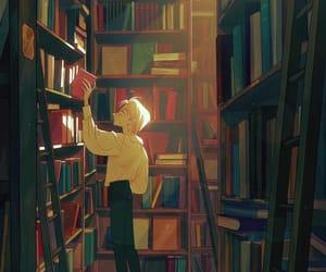 book, boy, and illustration image